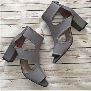 Donald Pliner gray booties